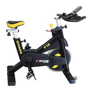 Bicicleta Spinning Kikos Pró F12 - Preto e Amarelo
