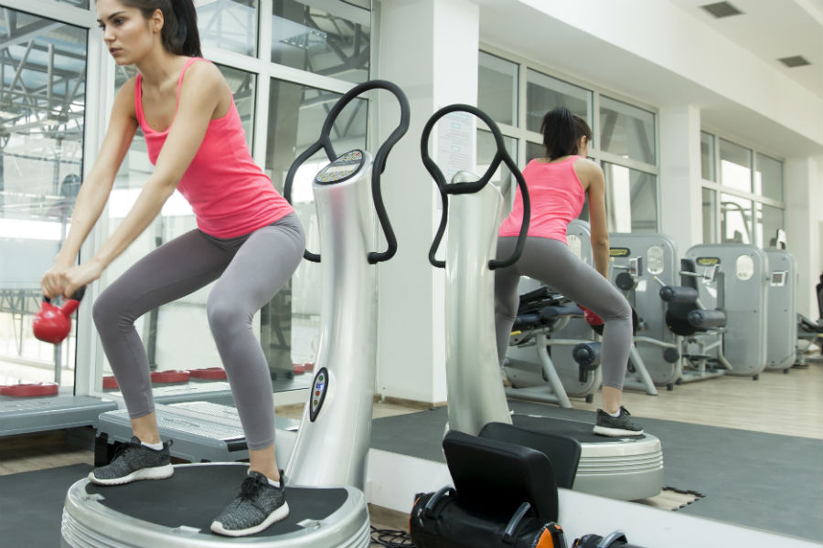 exercício plataforma vibratória